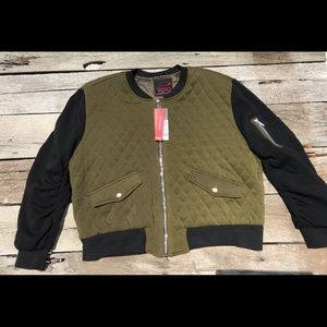 NWT Yoki Olive Quilted Plus Size Baseball Jacket